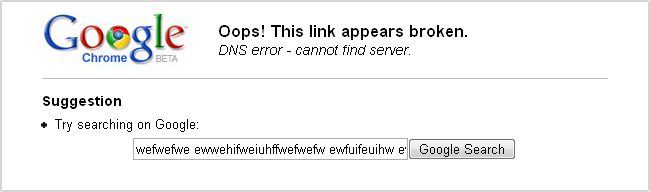 (Google Chrome error page)