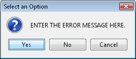 ENTER THE ERROR MESSAGE HERE