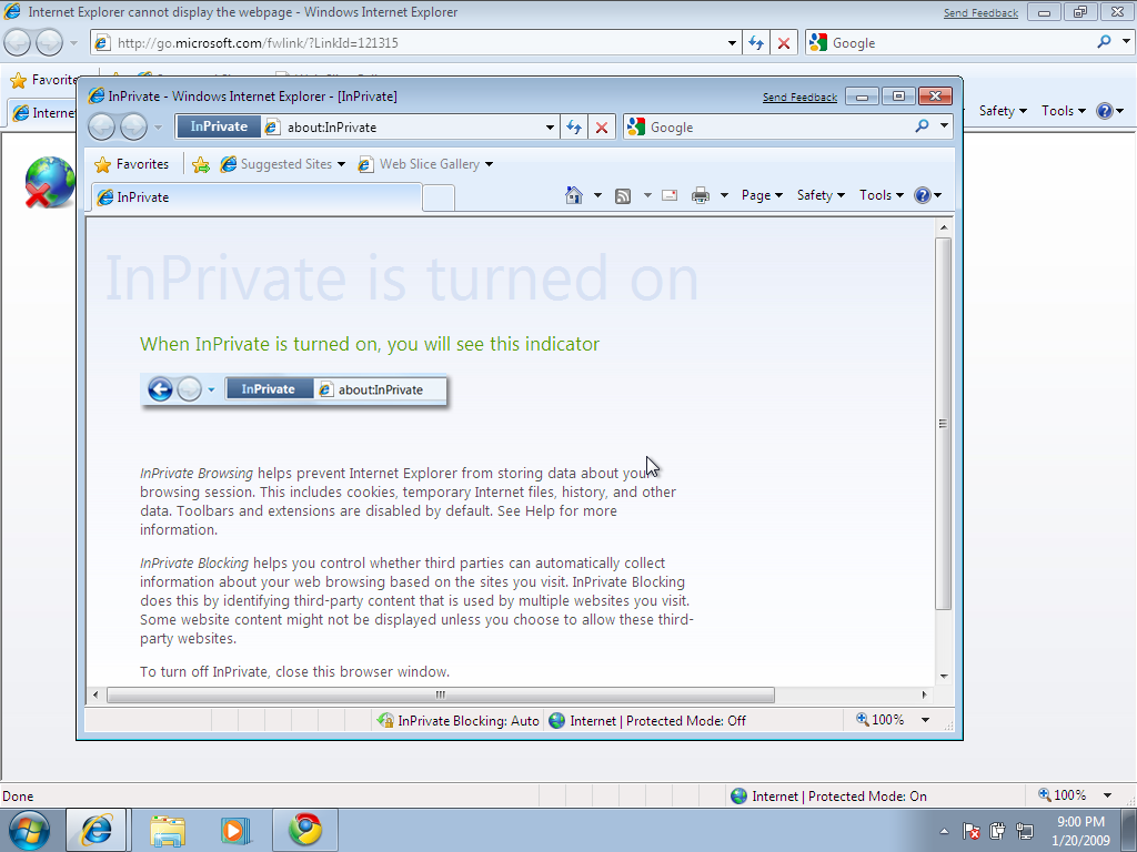 InPrivate Mode